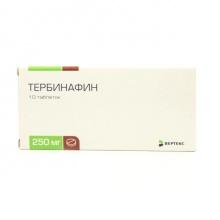 Тербинафин таблетки 250 мг, 10 шт.