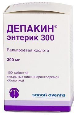 Депакин хроно таблетки ретард 300 мг, 100 шт.