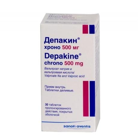 Депакин хроно таблетки 500 мг, 30 шт.