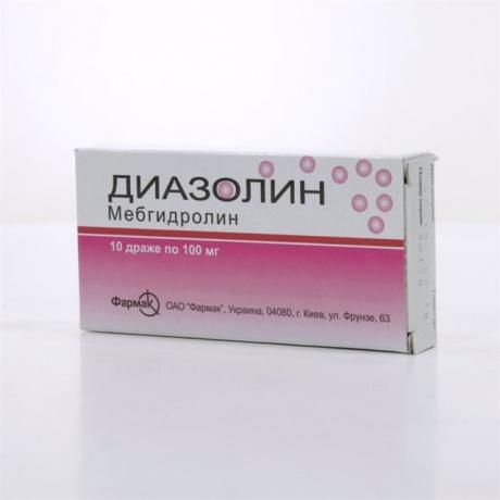 Диазолин драже 100 мг, 10 шт. Купить в москве, цена в интернет.
