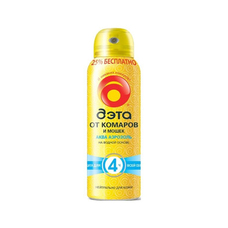 ДЭТА-спрей аэразоль Aqua от мошек, комаров, 125 мл