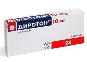 Диротон таблетки 10 мг, 28 шт.