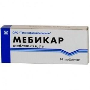Мебикар таблетки 500 мг, 20 шт.