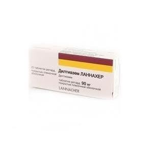Дилтиазем ланнахер таблетки ретард 90 мг, 20 шт.