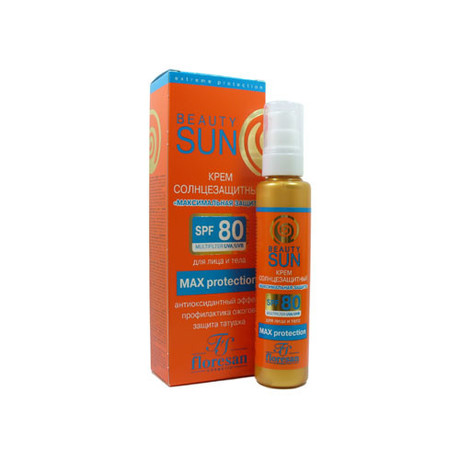 Крем ФЛОРЕСАН Формула Максимальная защита солнцезащный SPF-80 для лица и тела, 75 мл (Ф-284)