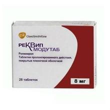 Реквип Модутаб таблетки 8 мг, 28 шт.