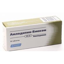 Амлодипин-Биоком таблетки 10 мг, 30 шт.