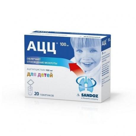АЦЦ пакетики апельсиновые 100 мг 3 г, 20 шт.