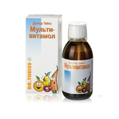 Доктор Тайсс Мультивитамол сироп, 200 мл