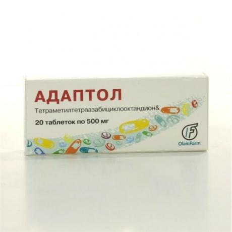 Адаптол таблетки 500 мг, 20 шт.
