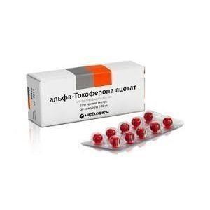 Альфа-Токоферола ацетат (Витамин E) капсулы 100мг, 30шт