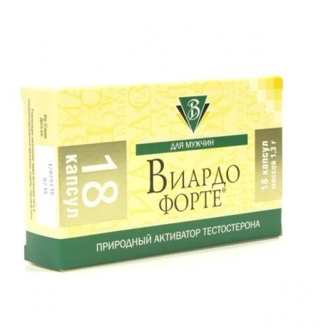 Виардо форте (масло зародышей пшеницы) капсулы 1 г, 18 шт.