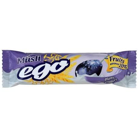 Батончики мюсли EGO слива в йогурте 25 г