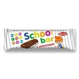 Батончики мюсли TEKMAR для детей с витаминами молочные с шоколадом, 25 г