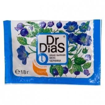 Каша Dr.Dias черника льняная 18 г