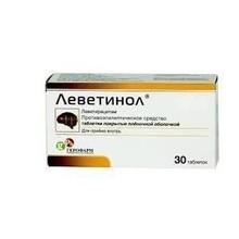 Леветинол таблетки 250 мг, 30 шт.