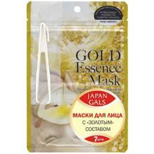 Маска косметическая JAPAN GALS с золотым составом для лица, 7 шт.