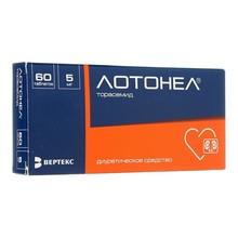 Лотонел таблетки 5 мг, 60 шт.