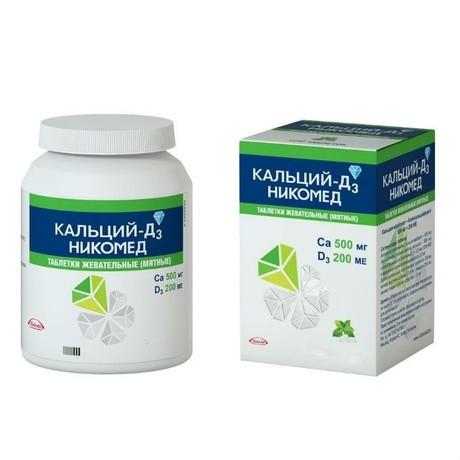 Кальций-Д3 Никомед таблетки жевательные мята 120 шт.