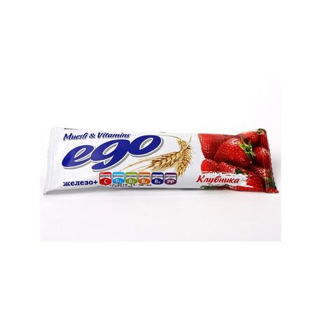 Батончики мюсли EGO Kids Клубника с железом и витаминами в йогуртовой глазури 25 г