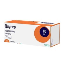 Диувер таблетки 10 мг, 60 шт.