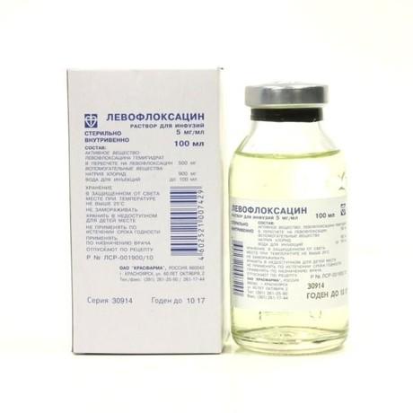 Левофлоксацин бутылка (раствор для инфузий) 5мг/мл 100мл цена в Краснодаре 57 р. купить дешево. Инструкция по применению, аналоги, отзывы