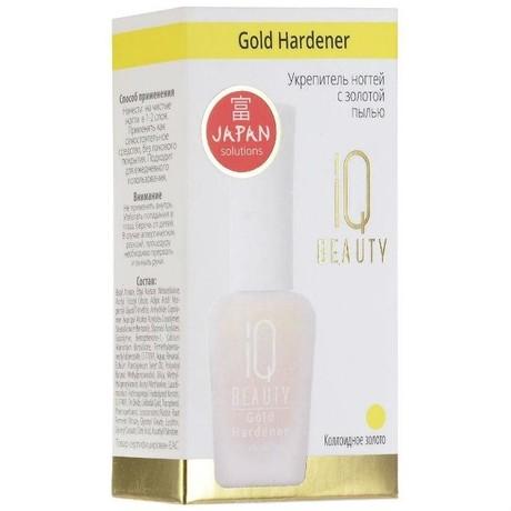 Средство косметическое IQ BEAUTY укрепитель ногтей с золотой пылью 12,5мл