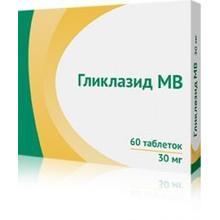 Гликлазид МВ таблетки с пролонгированным высвобождением  60 мг, 30 шт.