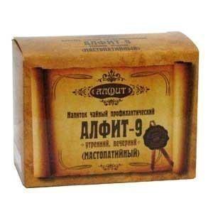 Алфит №9 утренний и вечерний фитосбор брикет по 2г, 30 шт.  х 2