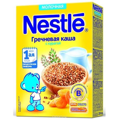 Каша НЕСТЛЕ молочная гречка/курага с бифидобактериями (с 5 мес.) 220 г