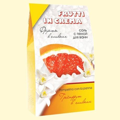 Соль для ванн с пеной FRUTTI IN CREMA Грейпфрут в сливках 500 г