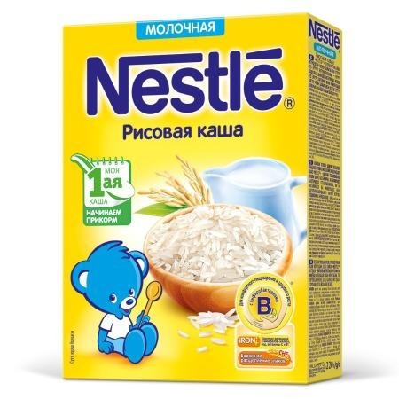 Каша НЕСТЛЕ молочная рисовая 220 г