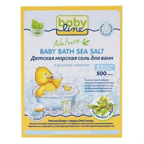 Соль для ванн детская BabyLine Череда морская 500 г