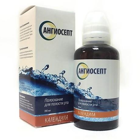Ангиосепт полоскание для полости рта с эктрактом календулы 200мл