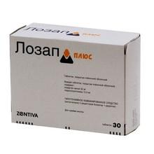 Лозап плюс таблетки 50 мг+12.5 мг, 30 шт. (10 + 1)