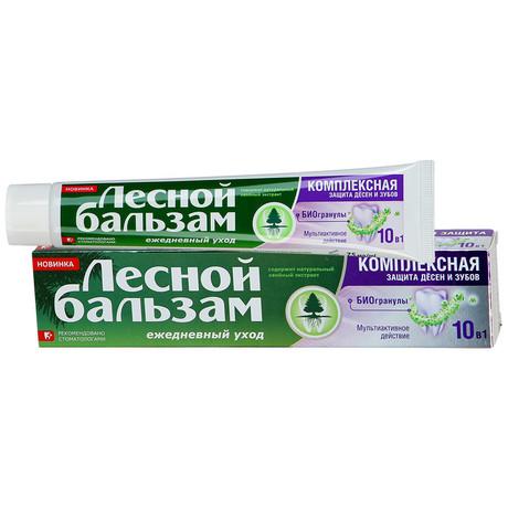 Зубная паста ЛЕСНОЙ БАЛЬЗАМ Комплексная защита десен с биогранулами 75 мл