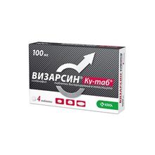Визарсин Ку-таб таблетки диспергируемые в полости рта 100 мг, 4 шт.