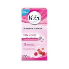 VEET EASY GEL WAX восковые полоски для нормальной кожи, 12 шт.