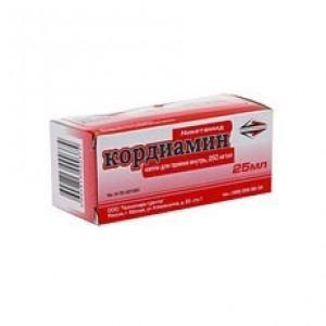 Кордиамин флакон (капли оральные) 25% 30мл