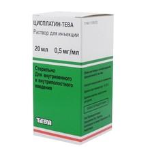 Цисплатин-Тева флакон (концентрированный для инфузий) 0,5мг/мл 20мл