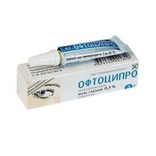 Офтоципро мазь глазная 0,3% 3г