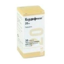 Кордафлекс таблетки ретард 20 мг, 30 шт.