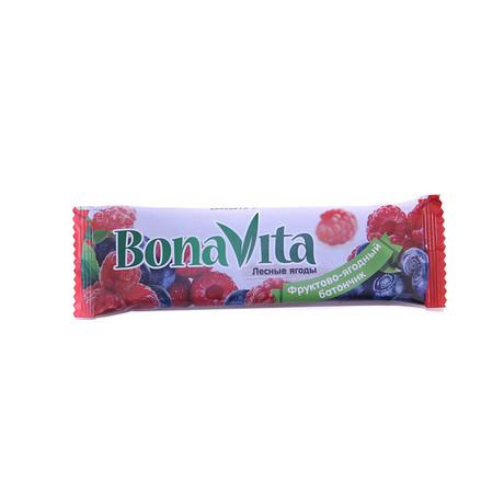 Батончики BONA VITA (Бона Вита) фруктово-ягодный Лесные ягоды 40г