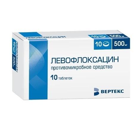 Левофлоксацин таблетки, покрытые пленочной оболочкой 500мг, 5 шт.