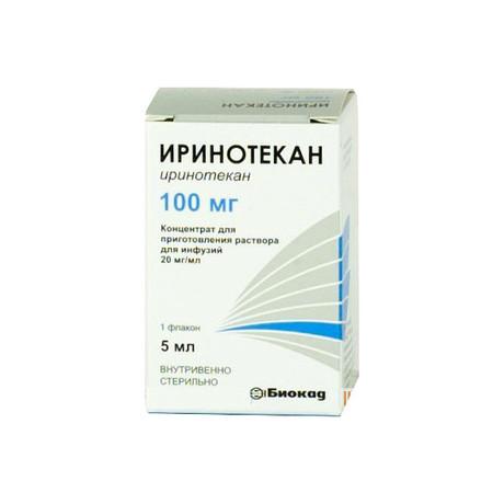 Иринотекан флакон (концентрат для приготовления раствора для инфузий) 20мг/мл 5мл