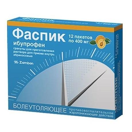 Фаспик пакетик (гранулы для раствора оральный) 400мг, 12 шт.  (абрикосовые)