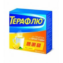 ТераФлю от гриппа и простуды пакетики, 10 шт. (лимон)