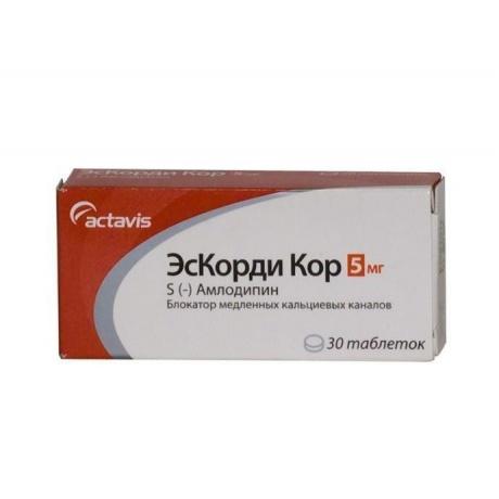 ЭсКорди Кор таблетки 5 мг, 30 шт.