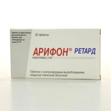 Арифон ретард таблетки 1,5 мг, 30 шт. цена в Белгороде 327.24 р. купить дешево. Инструкция по применению, аналоги, отзывы