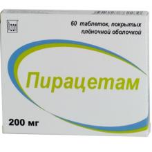 Пирацетам таблетки 200 мг, 60 шт.